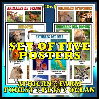 ANIMAL NAMES IN SPANISH ACTIVITY PACK