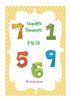 ANIMAL NUMBER DOMINOES (1 - 20)