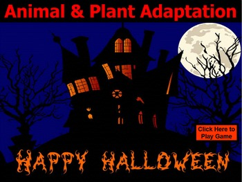 ANIMAL & PLANT ADAPTATION BIOLOGY HALLOWEEN GAME POWERPOINT