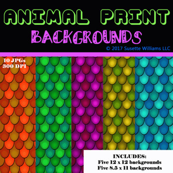 ANIMAL PRINT BACKGROUNDS: Fish Scales