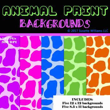 ANIMAL PRINT BACKGROUNDS: Giraffe