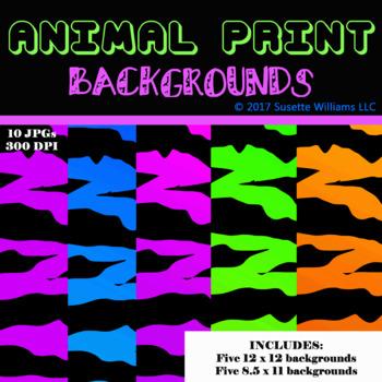 ANIMAL PRINT BACKGROUNDS: Tiger