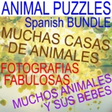 ANIMAL HOMES, RESEMBLANCE, COVERINGS - BUNDLE - PUZZLES - CENTERS - SPANISH