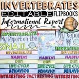 ANIMAL REPORT: INVERTEBRATES: INFORMATIONAL REPORTS: