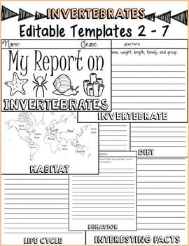ANIMAL REPORT: INVERTEBRATES: INFORMATIONAL REPORTS: