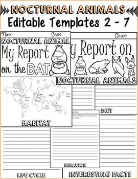 ANIMAL REPORT: NOCTURNAL ANIMALS: INFORMATIONAL REPORTS: RESEARCH TEMPLATES