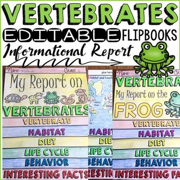 ANIMAL REPORT: VERTEBRATES: INFORMATIONAL REPORTS: RESEARCH TEMPLATES
