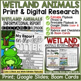 ANIMAL REPORT: WETLAND ANIMALS: INFORMATIVE WRITING: RESEARCH TEMPLATES