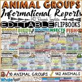 ANIMAL RESEARCH 2: ANIMAL GROUPS: EDITABLE FLIPBOOKS