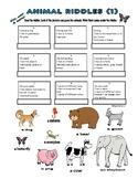 ANIMAL RIDDLES (1) Size, Habitat & Colors