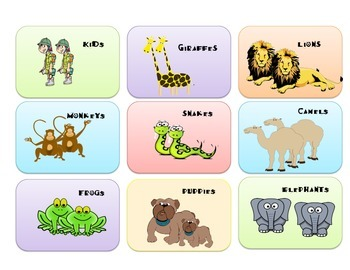 ANIMAL SENTENCE ASSEMBLE: A Present/Past Progressive Game