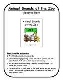 ANIMAL SOUNDS Adapted Velcro BOOK, SPEECH THERAPY, Early Intervention, Birth-3