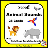 ANIMALS SOUNDS | 47 Animals | Fluency and Fun | 28 Task Cards | Gr. 2-3-4