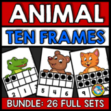 ANIMAL TEN FRAME ACTIVITIES (KINDERGARTEN AND PRESCHOOL MATH) NUMBERS 1-10