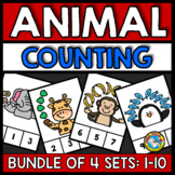 ANIMAL THEME COUNTING AND CARDINALITY (NUMBERS 1-10 ACTIVITY SPECIAL EDUCATION)