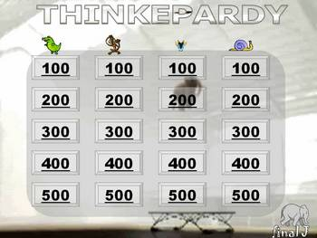 ANIMAL THINKEPARDY REVIEW GAME