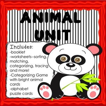 ANIMAL UNIT ACTIVITIES, PRINTABLES  Pre-Kindergarten Kindergarten