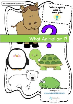 ANIMAL - WHAT AM I? Write a Mystery Animal Poem