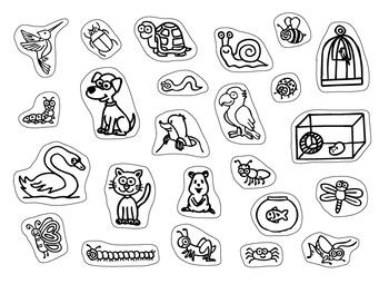 ANIMALES Set (Colección + Flashcards + Juego)