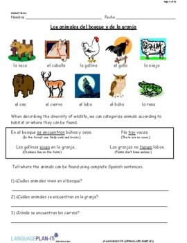 ANIMALS AND HABITATS (SPANISH 2016 EDITION)