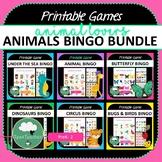 ANIMALS Bingo BUNDLE - Bingo Games Animals Bugs Birds Dino