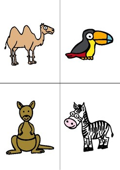 ANIMALS - FLASHCARDS + GAME
