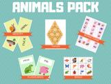 ANIMALS PACK - Flashcards, Memory, Tarsia, Bingo, Board Game