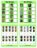 ANIMALS MATCH & SORT ACTIVITY w 240 PECS autism speech therapy aba printable pdf