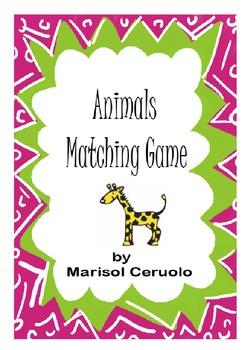 ANIMALS MATCHING GAME