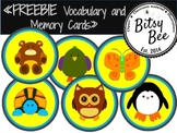 "FREEBIE ""ANIMALS  MEMORY GAME AND MATCH CARDS."""