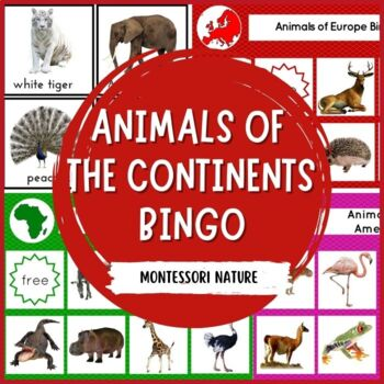 ANIMALS OF THE CONTINENTS BINGO MONTESSORI INSPIRED