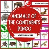 ANIMALS OF THE CONTINENTS BINGO MONTESSORI INSPIRED
