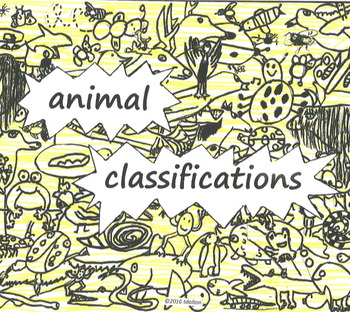 ANIMALS R US Animal Classifications; 6 part Song for Voice & Barred Instruments