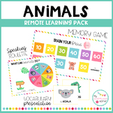 ANIMALS - Remote learning pack