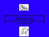 ANIMALS SAY MOVIE LESSON TPR