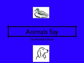 ANIMALS SAY MOVIE LESSON TPR