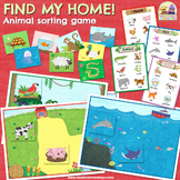 ANIMALS SORTING GAME - FIND MY HOME! - Animal Habitat Sorting & Memory Game