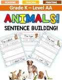 ANIMALS Sentence Building LEVEL AA