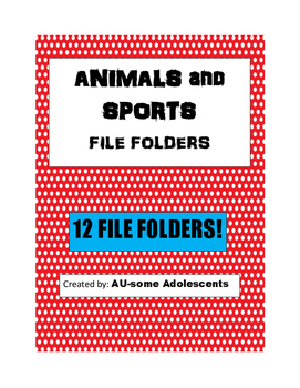 ANIMALS and SPORTS File Folders