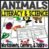 Kindergarten ANIMALS Worksheets and Activities