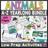 Animals Literacy and Science Activities: Kindergarten First Grade Science BUNDLE
