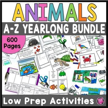 https://www.teacherspayteachers.com/Product/Animals-Literacy-and-Science-Activities-Kindergarten-First-Grade-Science-BUNDLE-2937780