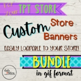 BUNDLE! ANIMATED Quote Box, Store Banner and Column Banner