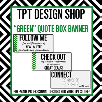 ANIMATED Quote Box Banner (GREEN)