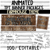 (3) ANIMATED RUSTIC THEMED TPT BANNERS