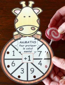 ANIMATHS (French poke cards, calcul mental, mental math)