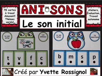 ANISONS (French Poke Cards, Cartes à trous) Le son initial