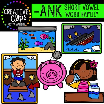 ANK Short A Word Family {Creative Clips Digital Clipart}