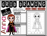 ANNA from FROZEN (Draw with Shapes) Grid Drawing - Early F