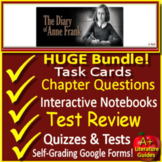 Anne Frank: The Diary of a Young Girl Google Novel Study with Self-Grading Tests